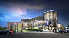 Planned renovations to the National Arts Centre in Ottawa include installing a glass and metal enclosure on multiple floors around a significant portion of the existing building. (DIAMOND SCHMITT ARCHITECTS)