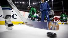 Minor hockey players take part in First Strides in Vancouver December 5, 2011. (JOHN LEHMANN/The Globe and Mail)