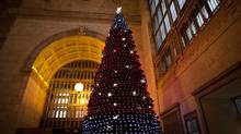 Christmas tree in Union Station in Toronto Dec. 15, 2011. (Moe Doiron/Moe Doiron/The Globe and Mail)