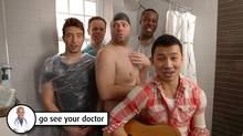 From youtube: Nutiquette: a dude's guide to checking his nuts (Canadian Cancer Society/Canadian Cancer Society)