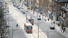 St. Clair Ave. between Bathurst and Dufferin. (Kevin Van Paassen/The Globe and Mail)