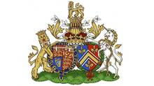 The new coat of arms for Britain's Prince William and his wife Catherine, Duchess of Cambridge is seen in this undated handout image released in London on September 27, 2013. (REUTERS/Kensington Palace/Handout via Reuters)