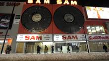 Photos of Sam the Record Man on Yonge Street, in Toronto, 2007. (Tibor Kolley/The Globe and Mail)