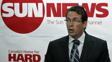 Quebecor president Pierre Karl Peladeau announces the creation of the Sun News Network at a Toronto news conference on June 15, 2010. (MIKE CASSESE/REUTERS)