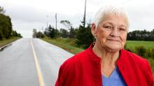 Betty Fox, mother of Terry Fox photographed this week in Prince Edward Island. Betty Fox has been on a marathon of her own, travelling and spreading the word that cancer research needs more money. (Nina Linton/Nina Linton for The Globe and Mail)