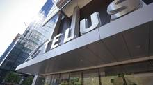 A Telus store in downtown Toronto: Scotia Capital analyst Jeff Fan has scaled back his projections for Telus's dividend growth to 5 per cent, from 10 per cent, starting in 2017. (Gloria Nieto/The Globe and Mail)