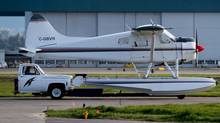 A truck is used to move a float plane at Vancouver International Airport in Richmond, B.C., on Friday May 3, 2013. Haphazard maintenance and unpredictable conditions, including wandering wildlife, make aviation in the north of the province a unique challenge. (DARRYL DYCK/THE CANADIAN PRESS)