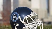 Toronto Argonauts helmet (Philip Cheung/The Globe and Mail)