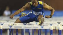 Aries Merritt of the U.S. competes in the men's 110m hurdles event at the IAAF Diamond League athletics meeting, also known as Memorial Van Damme in Brussels September 7, 2012. (LAURENT DUBRULE/REUTERS)
