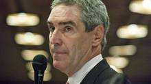 Liberal Leader Michael Ignatieff speaks during the party's winter caucus retreat in Ottawa on Jan. 25, 2011. (Pawel Dwulit/THE CANADIAN PRESS)