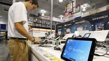 HP stunned markets two weeks ago when it killed off the TouchPad tablet computer as part of a series of moves away from the consumer market. (Andrew Holman/Blloomberg News/Andrew Holman/Blloomberg News)