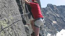The writer and his family climbed a beginner's vera ferrata that proved to be more challenging than anticipated, above Saas Fee, Switzerland.