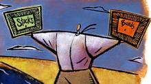 bonds stocks decision weighing
