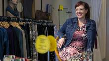 Laura-Jean Bernhardson, who owns three Fresh Collective fashion stores, has moved to technology for everything in her business that used to be done on paper. (Chris Young for The Globe and Mail)