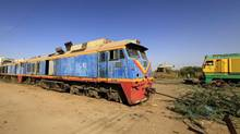 An old out-of-service train is parked at the Sudan Railway maintenance complex in Khartoum. Today, after decades of mismanagement and neglect, most of the country's rail track is out of service. (MOHAMED NURELDIN ABDALLAH/REUTERS)
