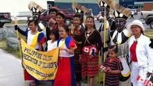 The Philippine community in Yellowknife celebrate Canada Day in style. (Josh Wingrove/ The Globe and Mail/Josh Wingrove/ The Globe and Mail)