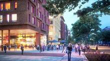 """The developers who bought the land that The Globe and Mail's Toronto headquarters sits on will soon be filing plans with the city for the creation of a new neighbourhood that they are calling """"The Well."""" (HARIRI PONTARINI ARCHITECTS)"""