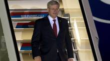 Canadian Prime Minister Stephen Harper arrives in St. Petersburg, Russia Wednesday September 4, 2013 ahead of the G20 Summit.