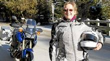 Liz Jansen, 57, operates a tour company with a focus on rides and events exclusively for women. (Fernando Morales/The Globe and Mail)
