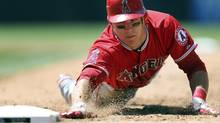 Los Angeles Angels outfielder Mike Trout got off to a fast start in his 2012 AL rookie-of-the-year season with 49 steals. (Jack Dempsey/AP Photo)