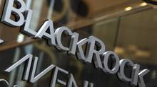 The BlackRock logo is seen outside of its offices in New York Jan. 18, 2012. (Shannon Stapleton/Reuters)