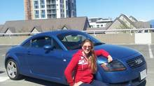 Canadian swimmer Samantha King and her Audi TT.