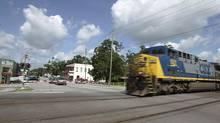 A CSX freight train passes through Folkston, Ga. (OSCAR SOSA/Associated Press)