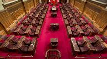 The Senate chamber on Parliament Hill is seen on May 28, 2013. (ADRIAN WYLD/THE CANADIAN PRESS)