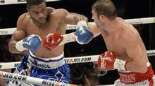 Jean Pascal boxes during the NABF light heavyweight title bout at the Bell Centre. (Eric Bolte/USA Today Sports)