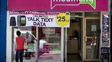 """Struggling wireless carrier asks Ontario Superior Court of Justice to extend """"stay"""" period shielding it from legal action after Telus bid fails. (Michelle Siu for The Globe and Mail)"""
