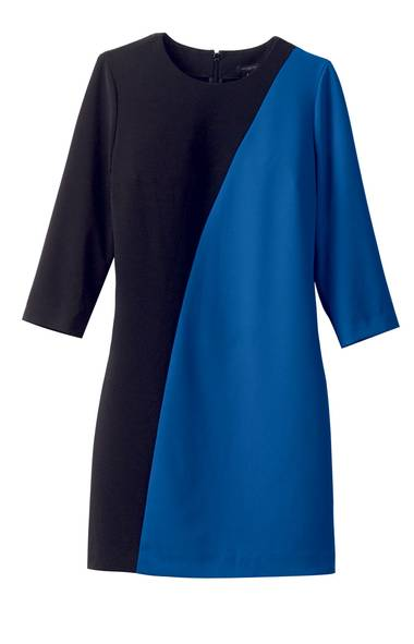 Ann Taylor colour-block sheath dress, $148 through www.anntaylor.com Road (www.avenue-road.com). (Handout)