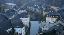 The Petrusse river is seen in this general view of the city of Luxembourg. (FRANCOIS LENOIR/REUTERS)