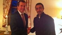 Liberal MP Scott Brison meets with UAE Foreign Minister Sheikh Abdullah Bin Zayed Al Nahyan in Davos, Switzerland, on Jan. 27, 2011. (Mohamed Mahmoud Al Khaja)