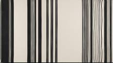 Gene Davis, Black Panther, 1970, oil on canvas. (Photography by Craig Boyko)