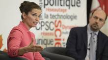 Federal science minister Kirsty Duncan described her plans to create a chief science officer for Canada during a question and answer session with Mehrdad Hariri, president of the Canadian Science Policy Centre, at a conference in Ottawa last Thursday. (CSPC, Capphotographic)