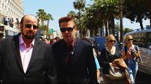 James Toback and Alec Baldwin, right, on the Croisette in Cannes, in Seduced and Abandoned. (Courtesy of HBO)