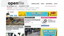 A Sept. 28, 2012 sreengrab from OpenFile's Vancouver website. (OpenFile)