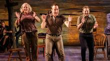 Astrid Van Wieren, Caesar Samayoa and Chad Kimball in La Jolla Playhouse's world-premiere musical Come From Away. (Jim Carmody)