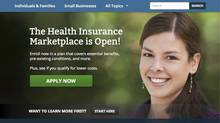 FILE - In this Friday, Oct. 11, 2013 computer frame grab, the HealthCare.gov website is displayed. (AP Photo/HealthCare.gov) (Uncredited/ASSOCIATED PRESS)