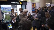 Convention goers are seen at the Agnico Eagle booth at the PDAC Convention 2016 in Toronto, Ontario Sunday March 6, 2016. (Kevin Van Paassen for The Globe and Mail)