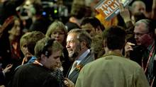 Quebec MP Thomas Mulcair makes his way to the stage at the NDP leadership convention in Toronto on March 23, 2012. (Kevin Van Paassen/Kevin Van Paassen/The Globe and Mail)