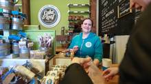 Josie Rudderham of Bake & Loaf in Hamilton decided to increase the wages of all their employees recently, up from $12 - $15 range to a better living wage of $15 - $18. (Glenn Lowson/The Globe and Mail)
