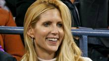 Conservative pundit Ann Coulter watches the U.S. Open tennis tournament in New York on Sept. 4, 2006. (JEFF ZELEVANSKY/JEFF ZELEVANSKY/REUTERS)
