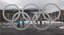A view of Athletes' Village in downtown Whistler, B.C., on Wednesday. Intrawest, which owns Whistler Blackcomb ski resort, is slated to be auctioned off during the Olympics. (ANDY CLARK/Andy Clark, Reuters)