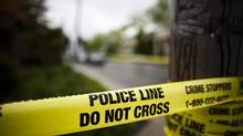 Police tape in Burnaby, B.C. (Rafal Gerszak For The Globe and Mail)