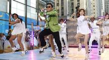 South Korean rapper Psy performs his massive K-pop hit Gangnam Style live on NBC's Today show in September, 2012. (Jason DeCrow/AP)