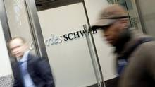 A Charles Schwab branch in midtown Manhattan. (DIMA GAVRYSH/AP)