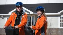Brian Doyle and his partner Sue Wellwood (Segway NB)