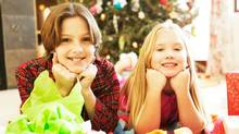children, boy, girl, christmas, gifts, smiling (photos.com)