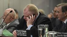 Toronto Mayor Rob Ford attends and executive board meeting on March 19 2014. Documents related to Project Brazen 2 were releases by a provincial judge after media requested their release. (The Globe and Mail)